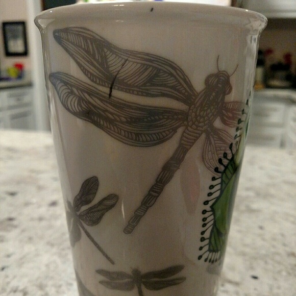Starbucks Other - Starbucks Dragonfly Lotus Flower Travel Cup